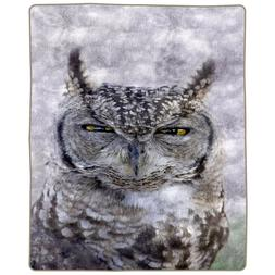 "Lavish Home Heavy Fleece Blanket with Owl Pattern 74"" x 91"""