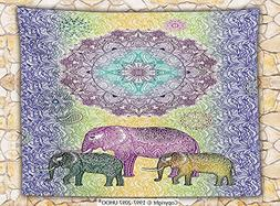 Home Decor Fleece Throw Blanket Indian Mandala Print with El