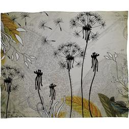 Deny Designs Iveta Abolina Little Dandelion Fleece Throw Bla