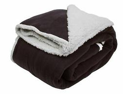 J&M Home Fashions Heavyweight Sherpa Fleece Throw Blanket 60