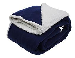 "Heavyweight Sherpa Fleece Throw Blanket 60x96"", Twin/Twin XL"