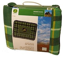 Springs Creative Products John Deere Green Plaid No-Sew Flee