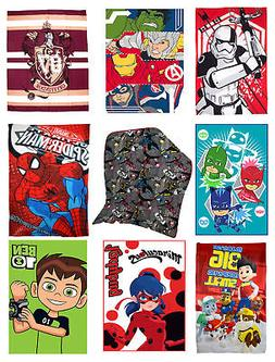 Kids Official Character Novelty Super Soft Fleece Blanket Th