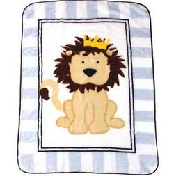LUVABLE FRIENDS KING LION BABY BLANKET LUXE HI HIGH PILE PLU