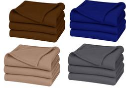 King Polar Fleece Thermal Blanket Extra Soft Brush Fabric,Su