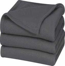 king polar fleece thermal blanket grey extra