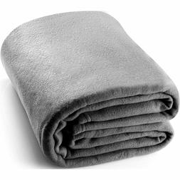 King Polar-Fleece Thermal Blanket Grey- Extra Soft Brush Fab