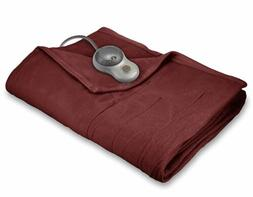 King Size Sunbeam Fleece Soft Quilted Electric Heated Blanke