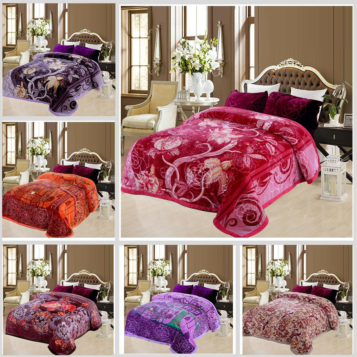 2 Ply Crystal Velvet Plush Mink Blanket Korean Style Medium