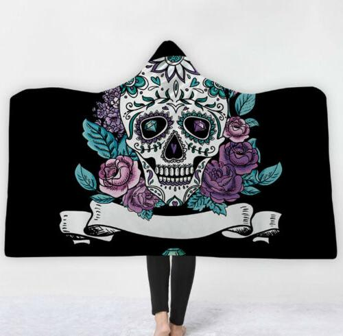 3D Fleece Blanket Cloak Soft Wearable Warm