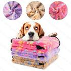 3PCS Soft Warm Paw Print Fleece Pet Blanket Dog Cat Puppy Be