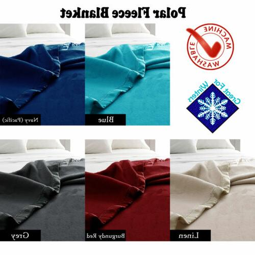 400gsm Machine Washable Polar Fleece Blanket - SINGLE DOUBLE