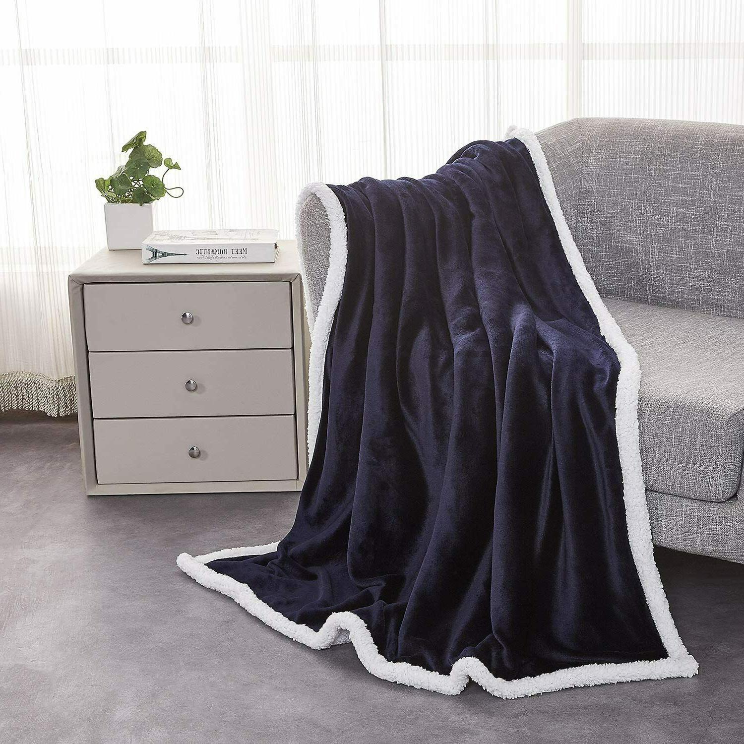 """60"""" x 80"""" Soft Fleece Fuzzy Plush Blanket Couch Blankets for"""