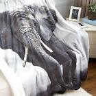 Bedsure Elephant Sherpa Throw Blanket Animal Bedding Blanket