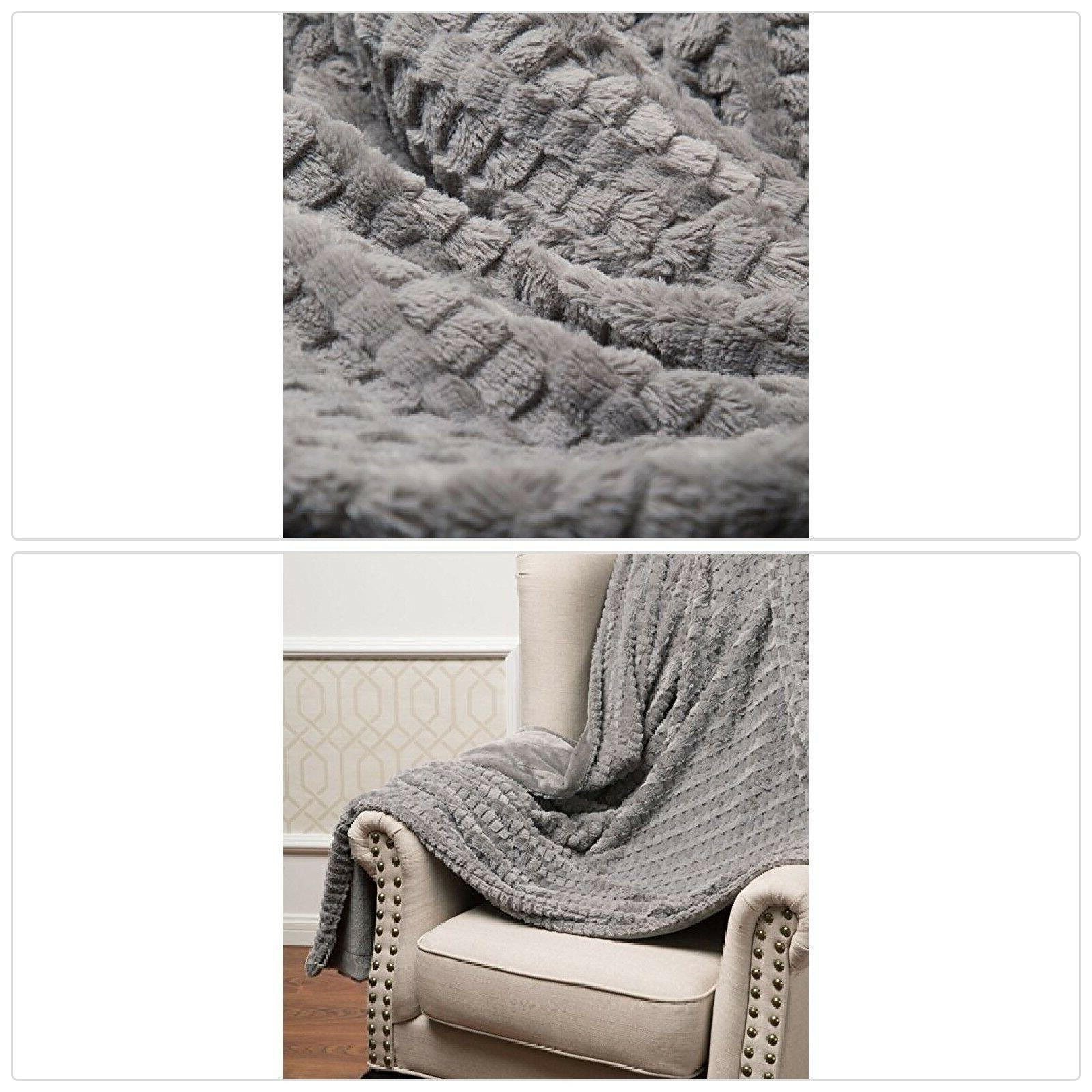 Bedsure Faux Fur Throw Blanket Fleece Bed Throw 50quotx60quo