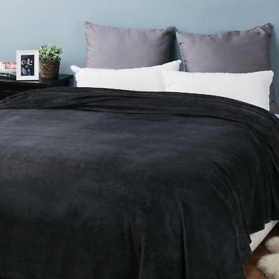 Bedsure Fleece Blanket Size Dark Bed