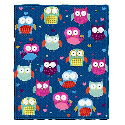 Dawhud Direct Owls Fleece Throw Blanket