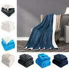 Fleece Throw Blanket Soft Plush Reversible Blankets Warm Lam