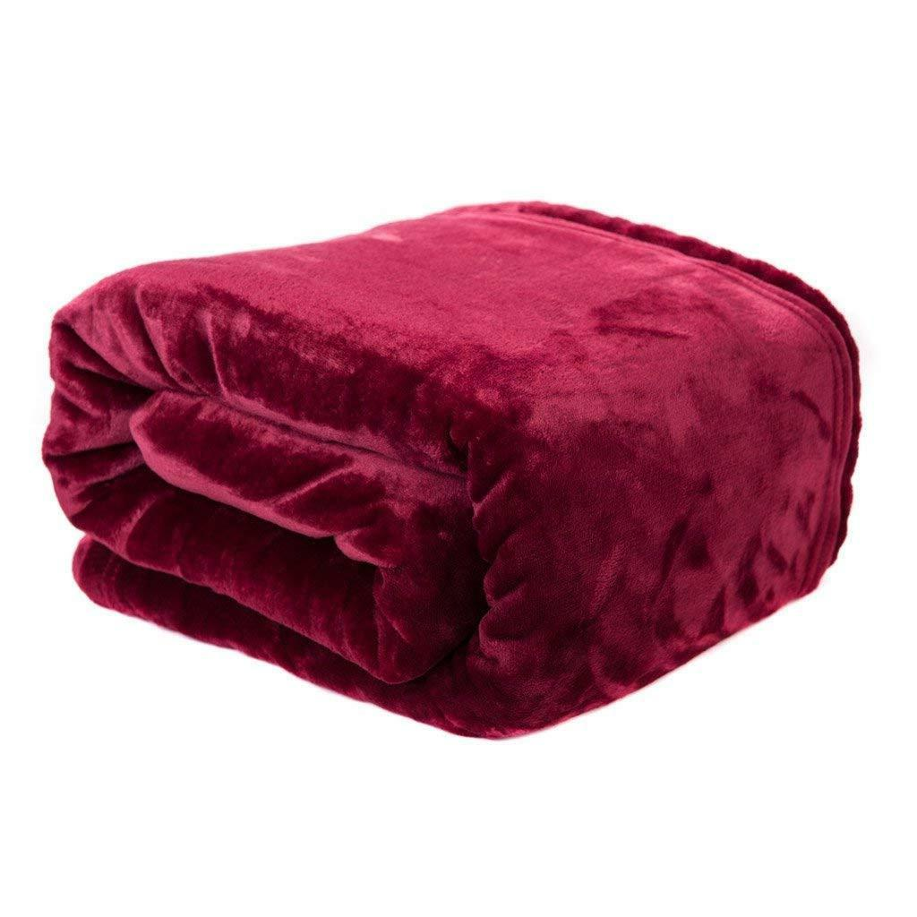 velvet plush blanket home fleece bed throw