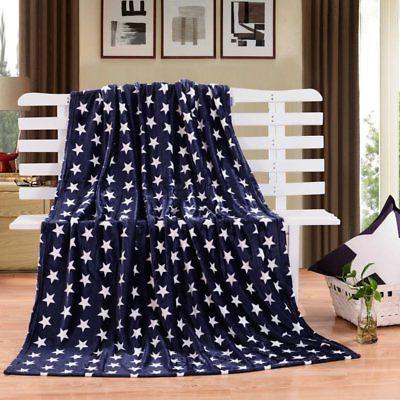 HYSEAS Velvet Plush Throw Blanket - Stars