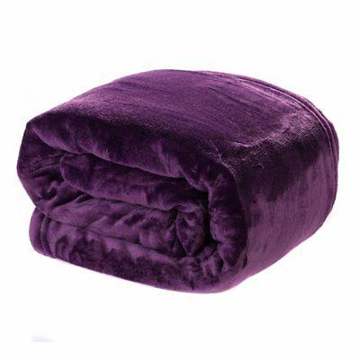 "HYSEAS Velvet Plush Throw, Home Fleece Throw Blanket, 50"" x"