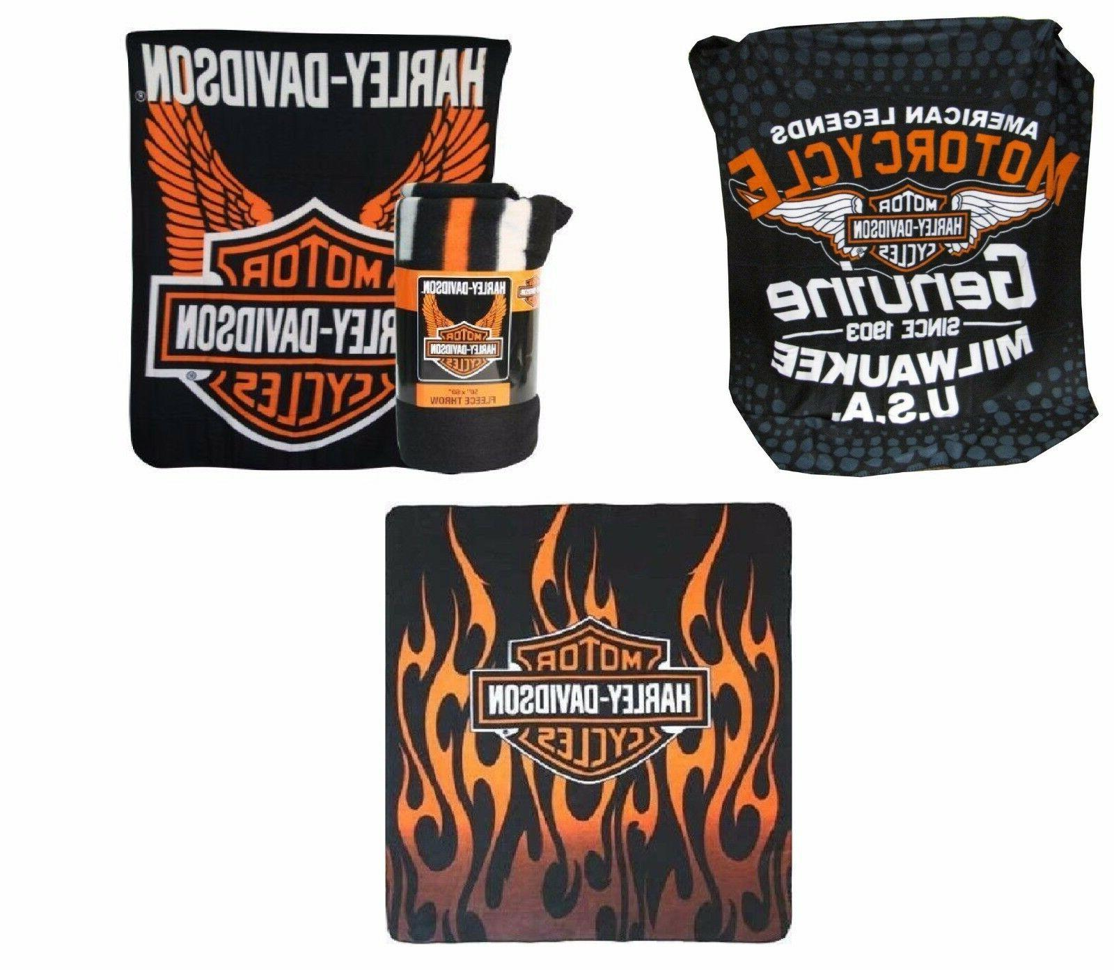 Harley Davidson 50 x 60 Fleece Throw Blanket