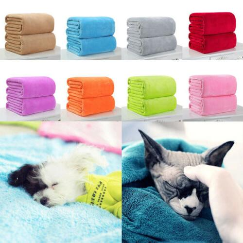Kids Super Soft Warm Solid Micro Plush Fleece Blanket Throw