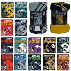 New NFL Pick Your Team Soft Micro Rasche Large Fleece Throw
