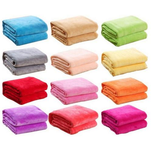 New Super Plush Fleece Bedding Soft Warm Throw Rug