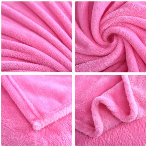 New Plush Blanket Bedding Warm Throw Rug