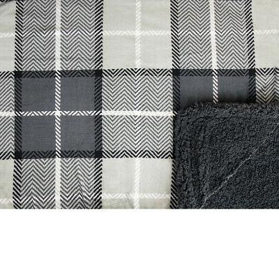 Plaid Throw Blanket for Couch Bed Fleece Soft