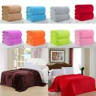 Solid Warm Flannel Throw Blanket Plush Sofa Fleece Single Tw