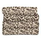 Sunbeam Fleece Heated Throw Blanket, Cheetah