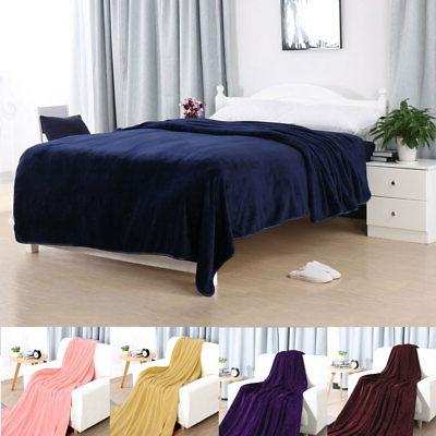 Thick Blankets Flannel for Bed Sofa/Twin