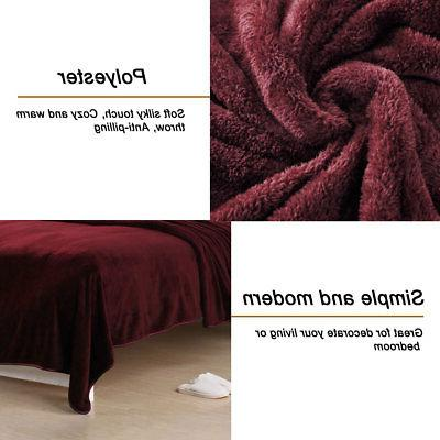 Thick Fleece Blankets Flannel Throw Blanket Bed