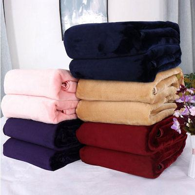 Thick Fleece Blankets  Cozy Flannel Throw Blanket for Bed So
