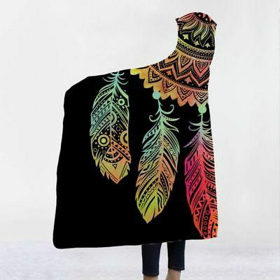 Adult Kids Fleece Wearable Cloak Throw Blanket US