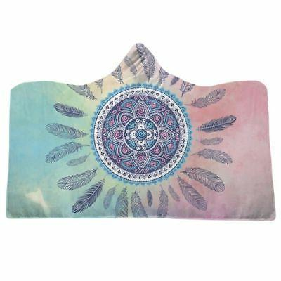 Adult Kids Hooded Fleece Blankets Cloak