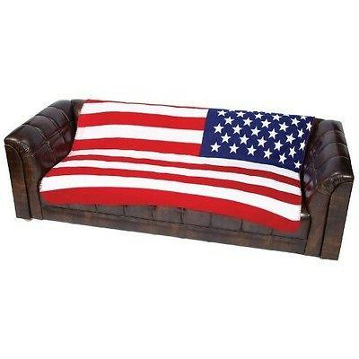 "American Flag Polar Fleece Blanket NEW 50""x60"" Throw Cover U"