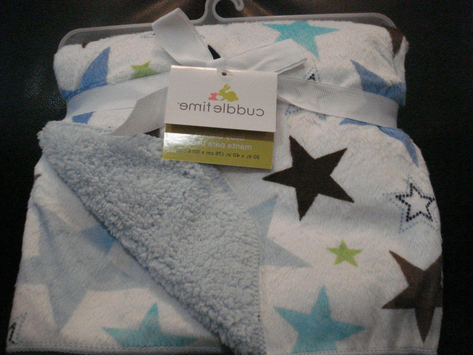 Cuddletime Valboa Fleece Blanket Stars Soft, Warm, Adorable Gift