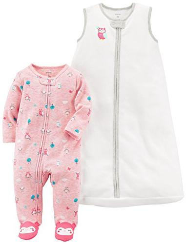 baby girls fleece sleep play