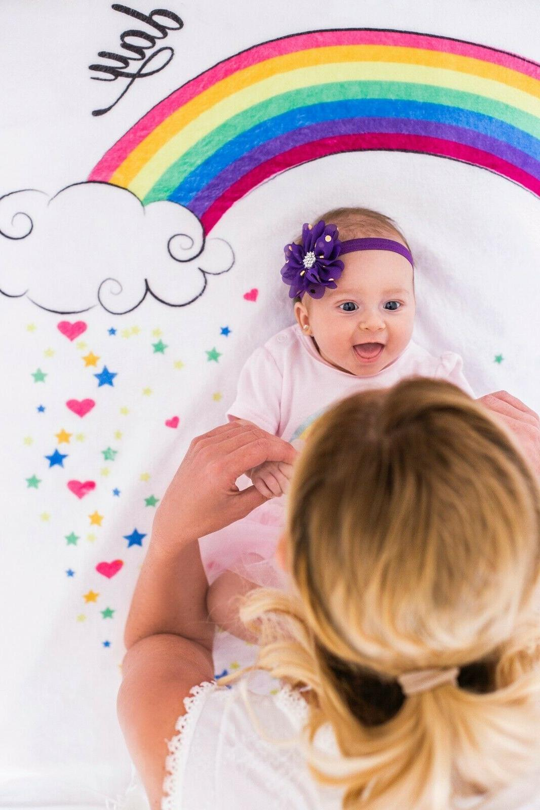 Baby Monthly Cute Unicorn Design Thick Mom