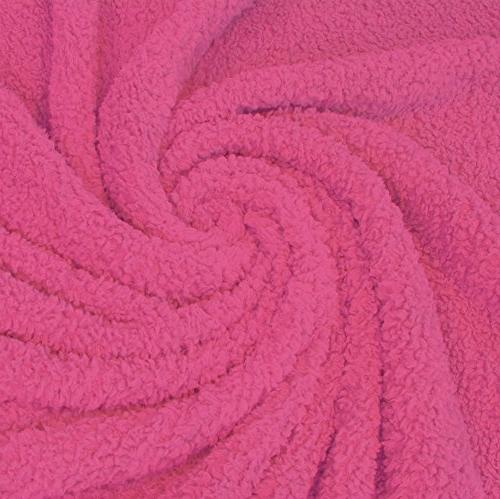 Napa Blankets, Bed throws, Soft Reversible Fuzzy W x L, Pink