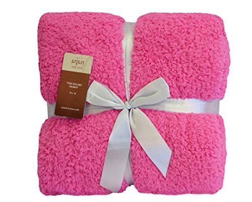 Napa Bed Bed throws, Soft Reversible Fuzzy Blanket 50 Pink