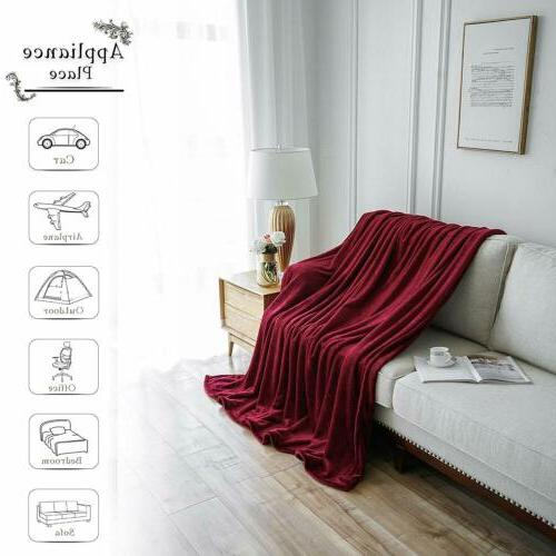 Bedding Flannel Throw Blanket Microfiber Twin