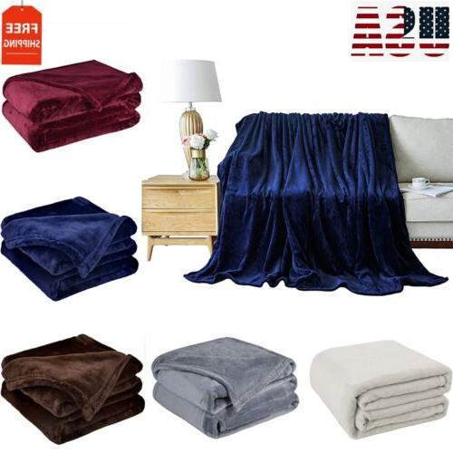 bedding flannel fleece throw blanket plush microfiber