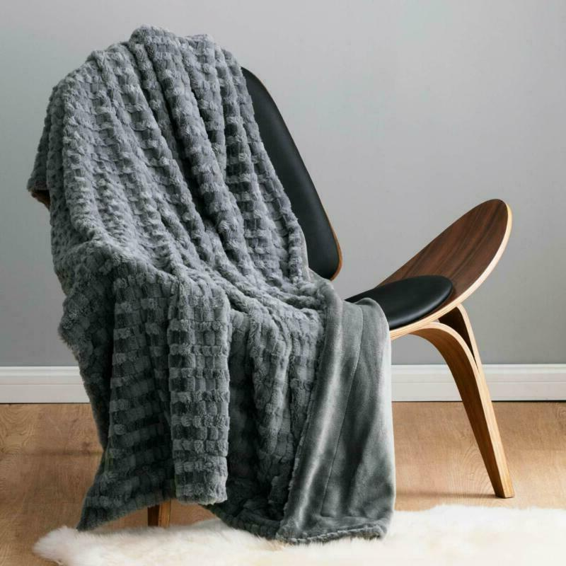 "Bedsure Fur Throw Blanket Fleece 50""x60"" Super Soft"