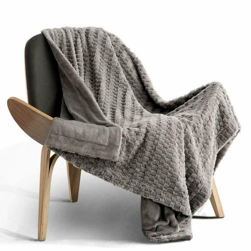 bedsure faux fur throw blanket fleece bed