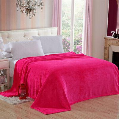 Solid Plush Fleece For Lightweight Large Throw King/Queen