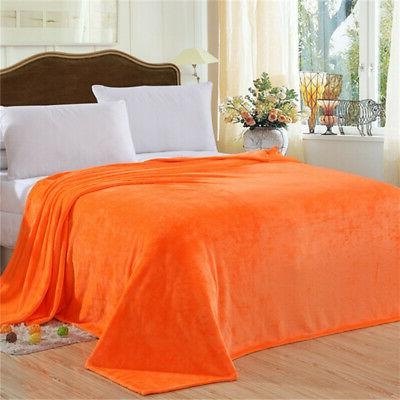 Solid Plush For Bed Soft Lightweight Large